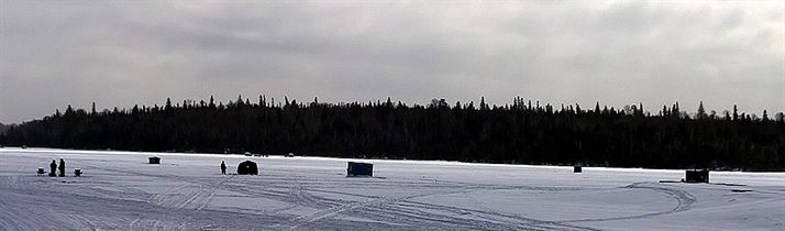 Ice Fishing On Larder Lake